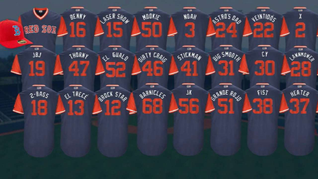 Red Sox Players Weekend jerseys