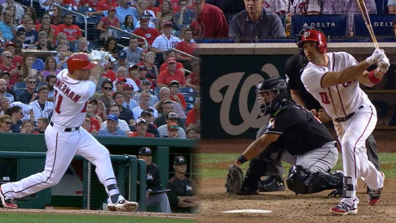 Zimmerman's two-homer night