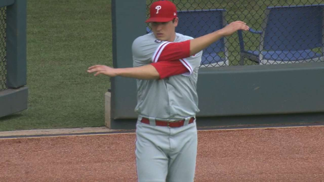 Eickhoff strong as Phillies hold off Braves