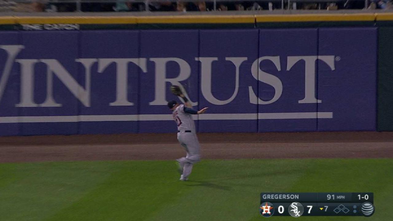 Fisher's nice running catch