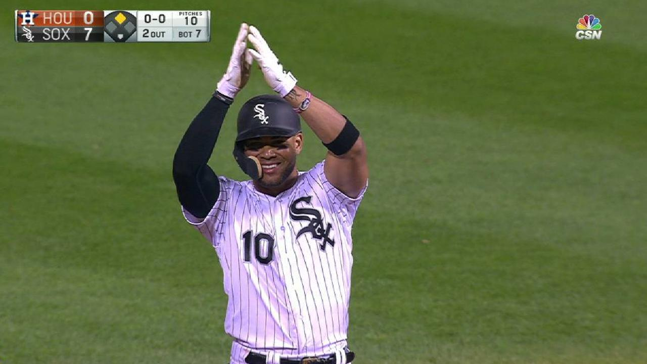 Moncada rips a double to right