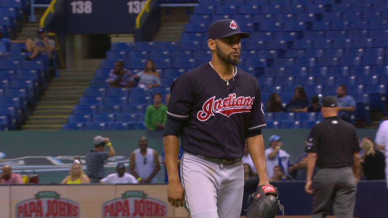 Tribe can't back Salazar, falls on late homer