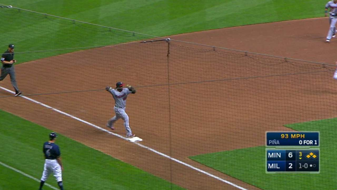 Sano converts double play