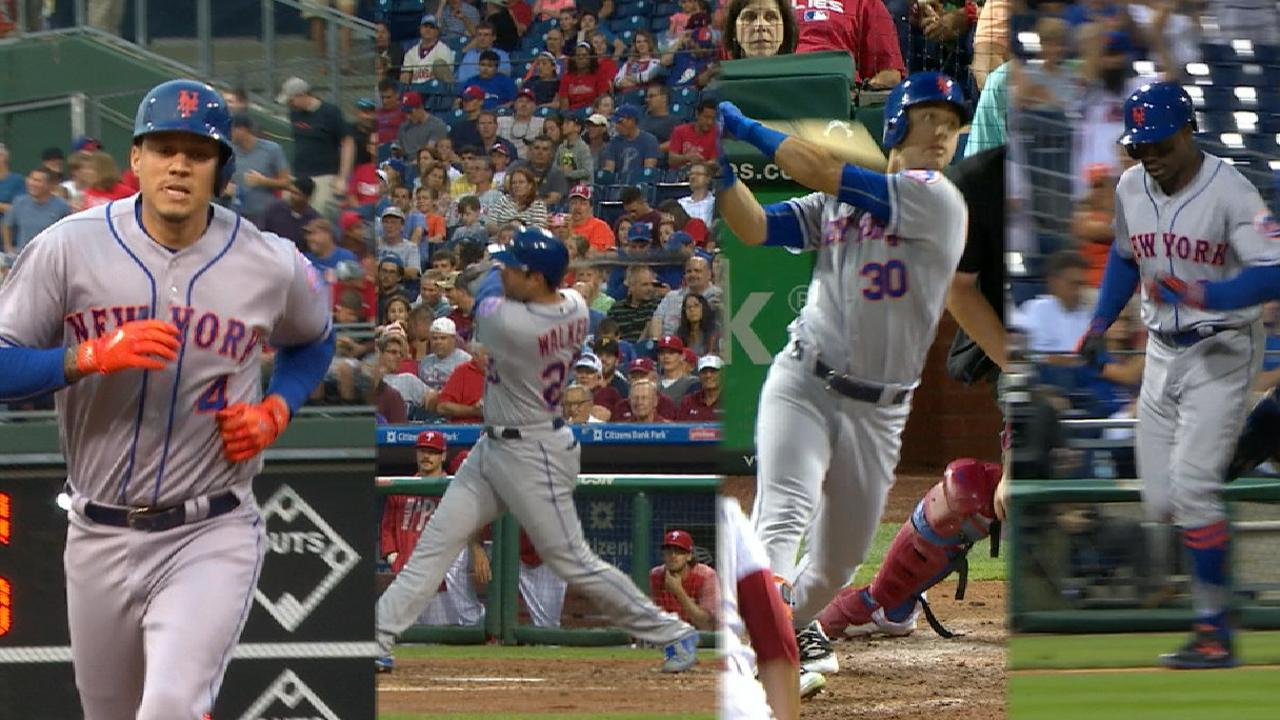 Long ball, longhair power Mets in rout of Phils