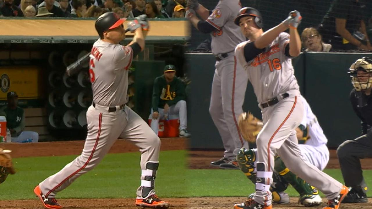 Mancini's two-homer game