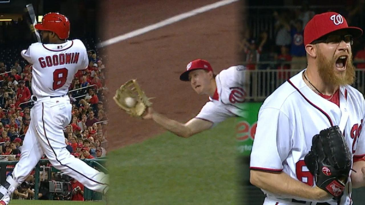 Deep, dive: Nats win on HR, thrilling catch