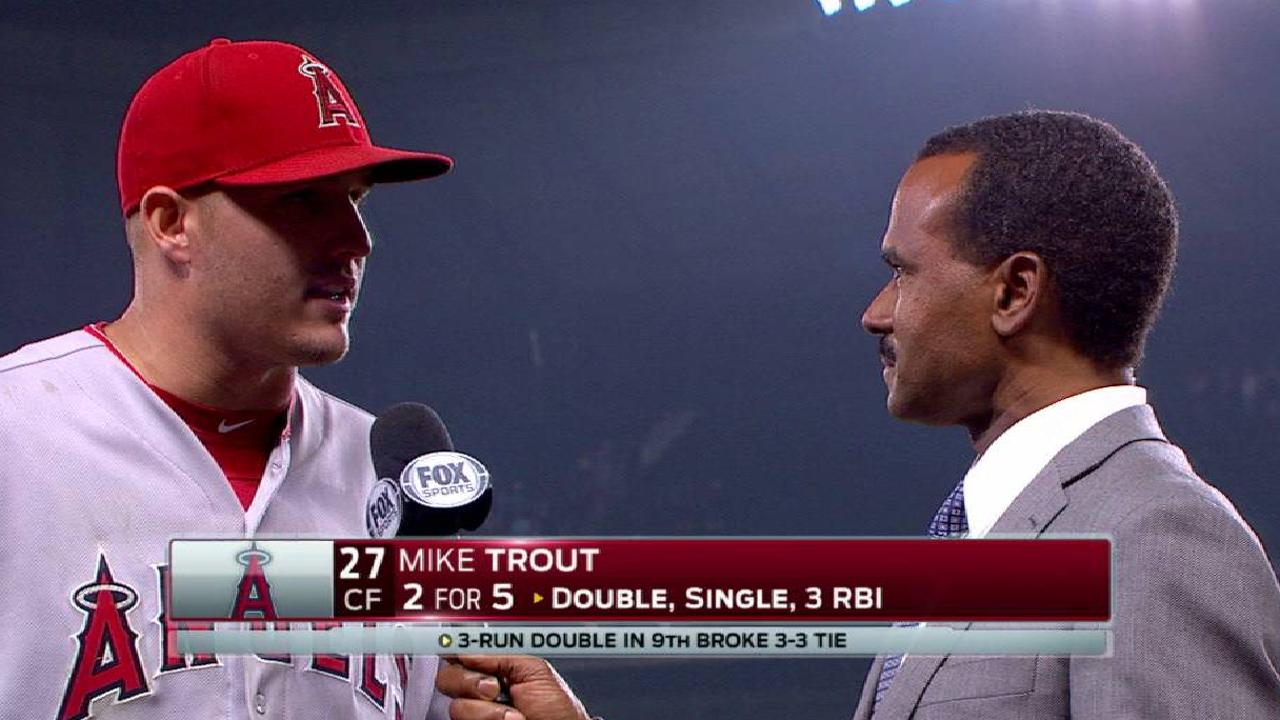 Trout on win over Mariners