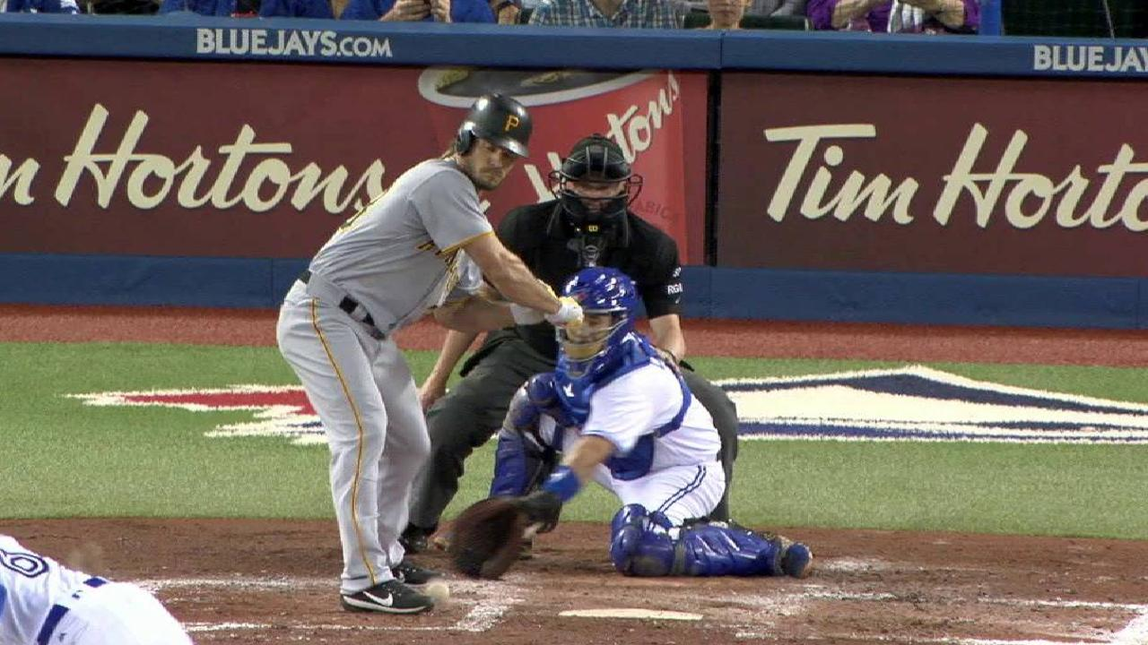 Jaso hit by pitch after review