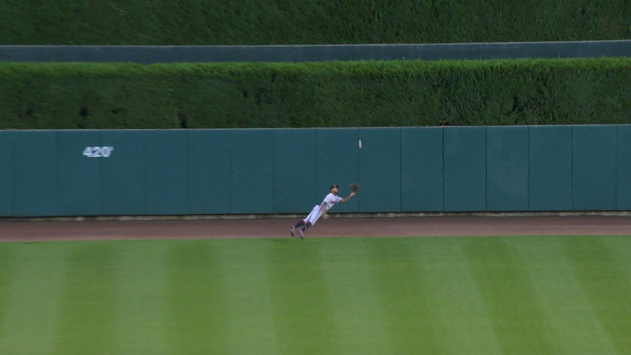 Buxton's magnificent diving grab
