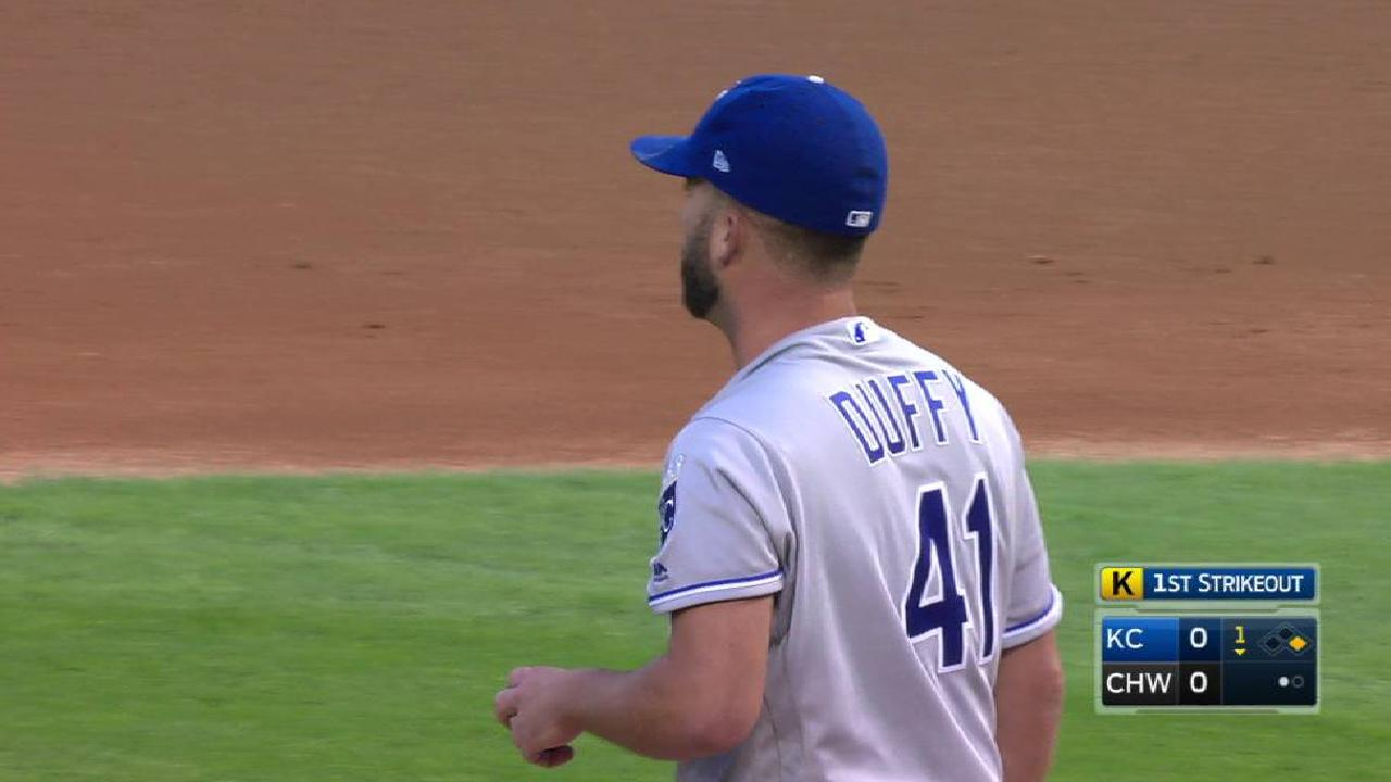 Duffy's outing spoiled by shaky seventh inning