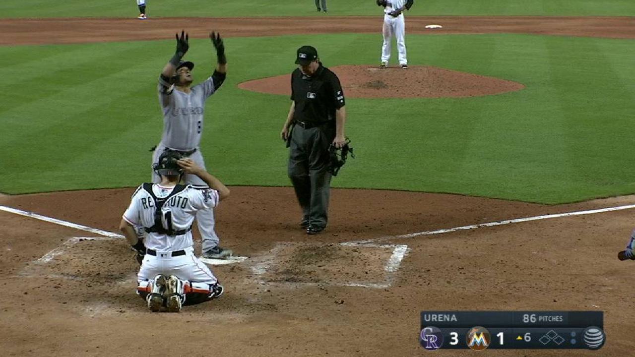 Parra's solo home run