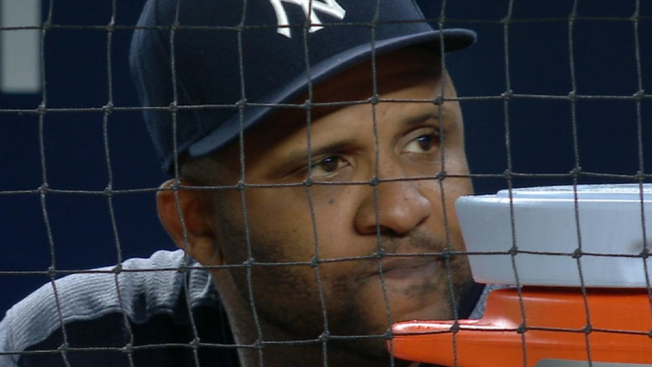 Yanks place CC on DL, recall Montgomery