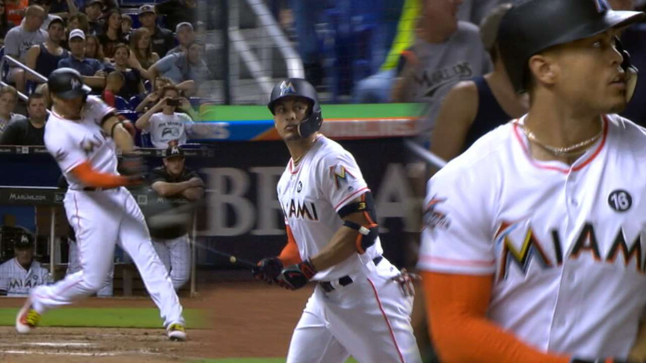 Stanton continues torrid run with 40th homer