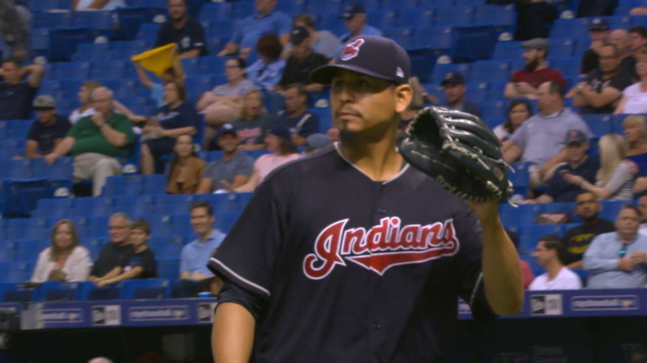 Carrasco's dominant outing