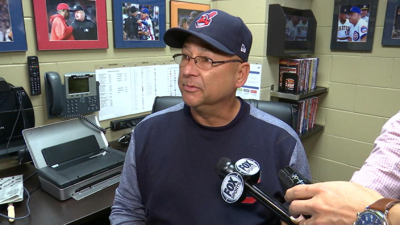 Francona on Carrasco's outing