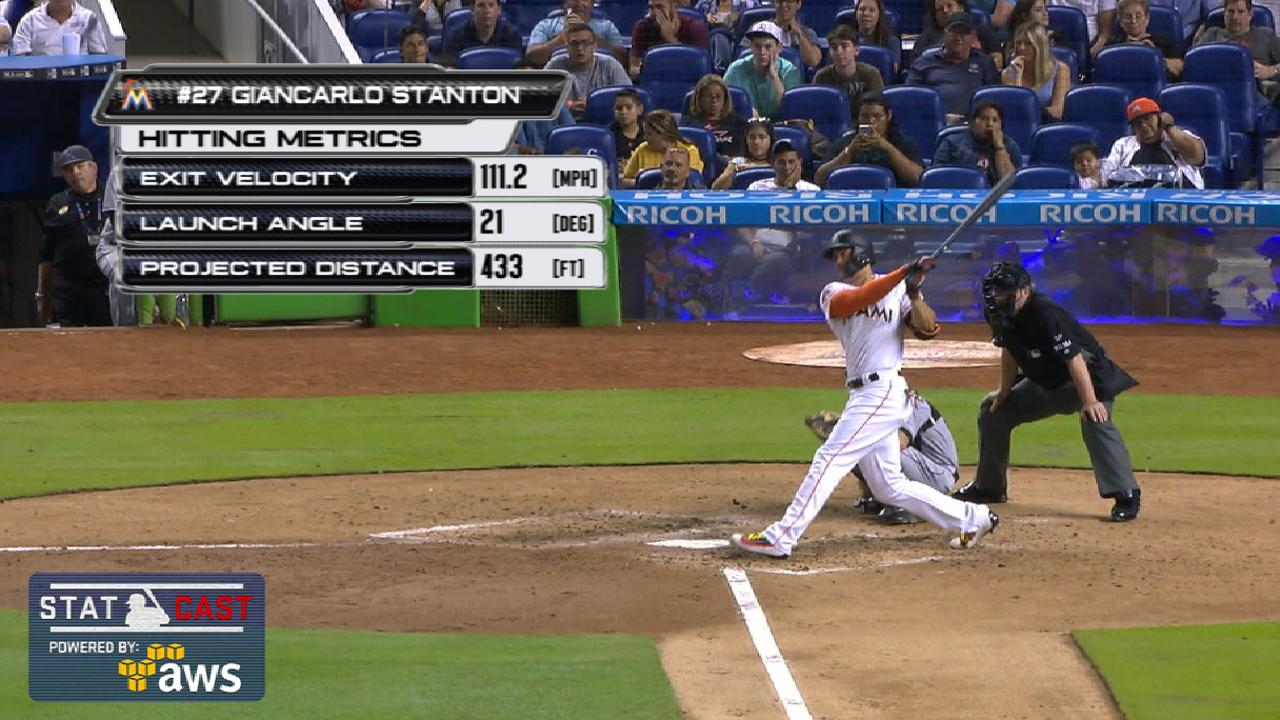 Statcast: Stanton's 40th homer