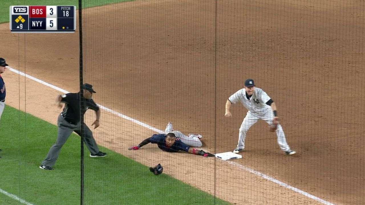 Hicks throws out Nunez