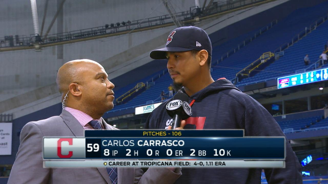 Carrasco on near no-hitter