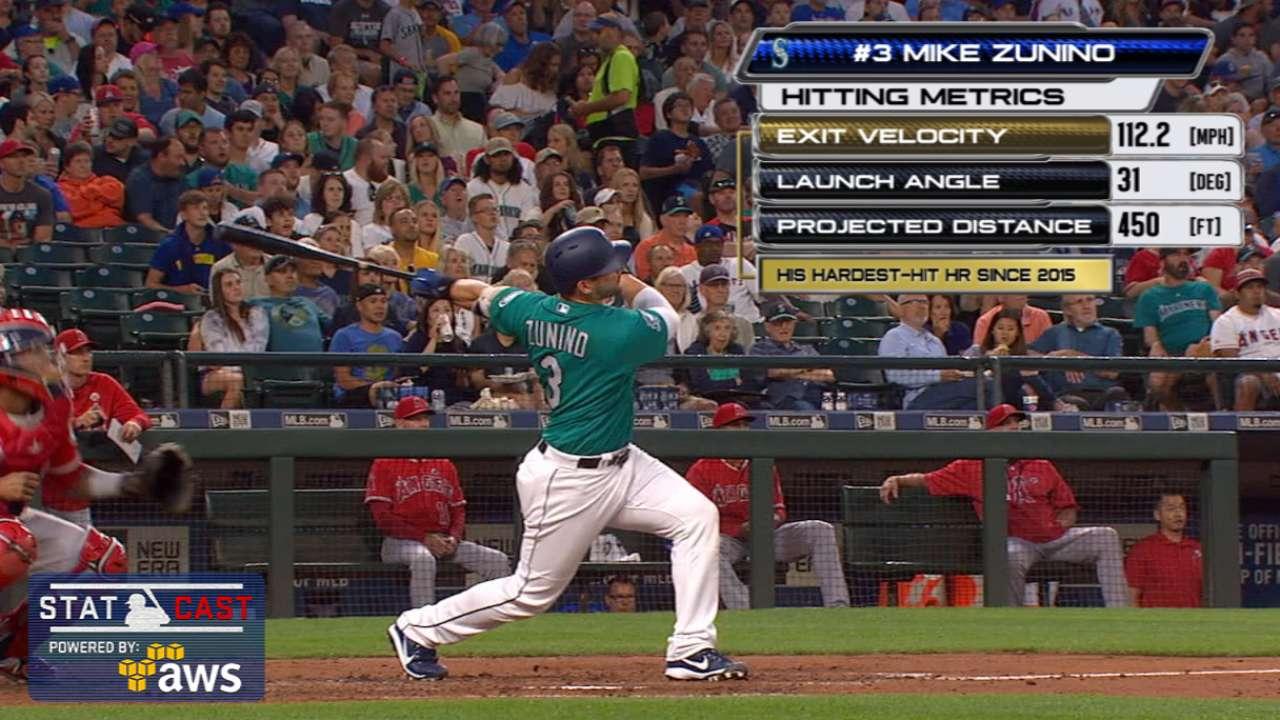 Statcast: Zunino's 450-ft. homer