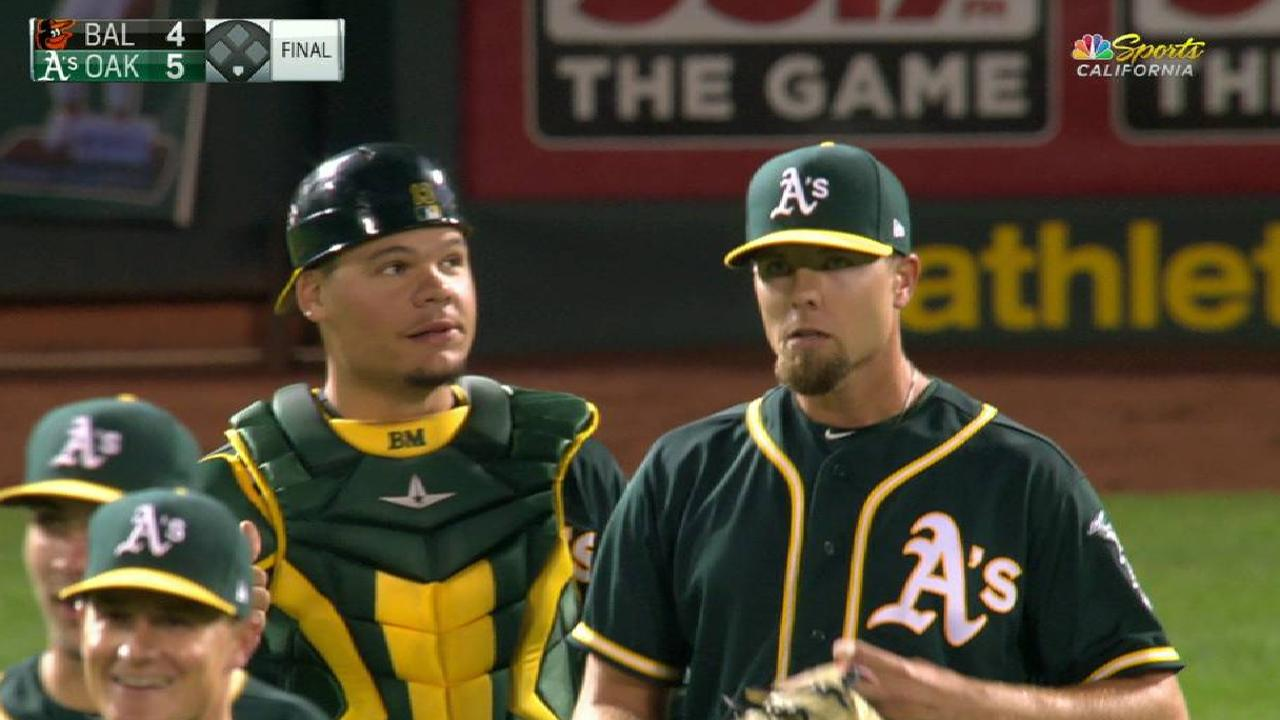 A's pleased with Treinen's contributions in 'pen