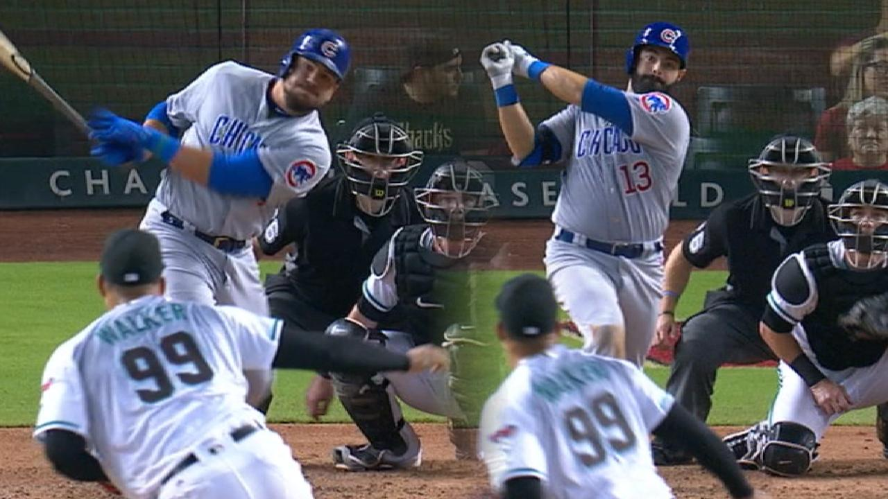 Cubs pounce early, pile on to deny D-backs
