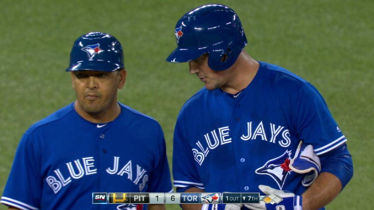Two Blue Jays score on error