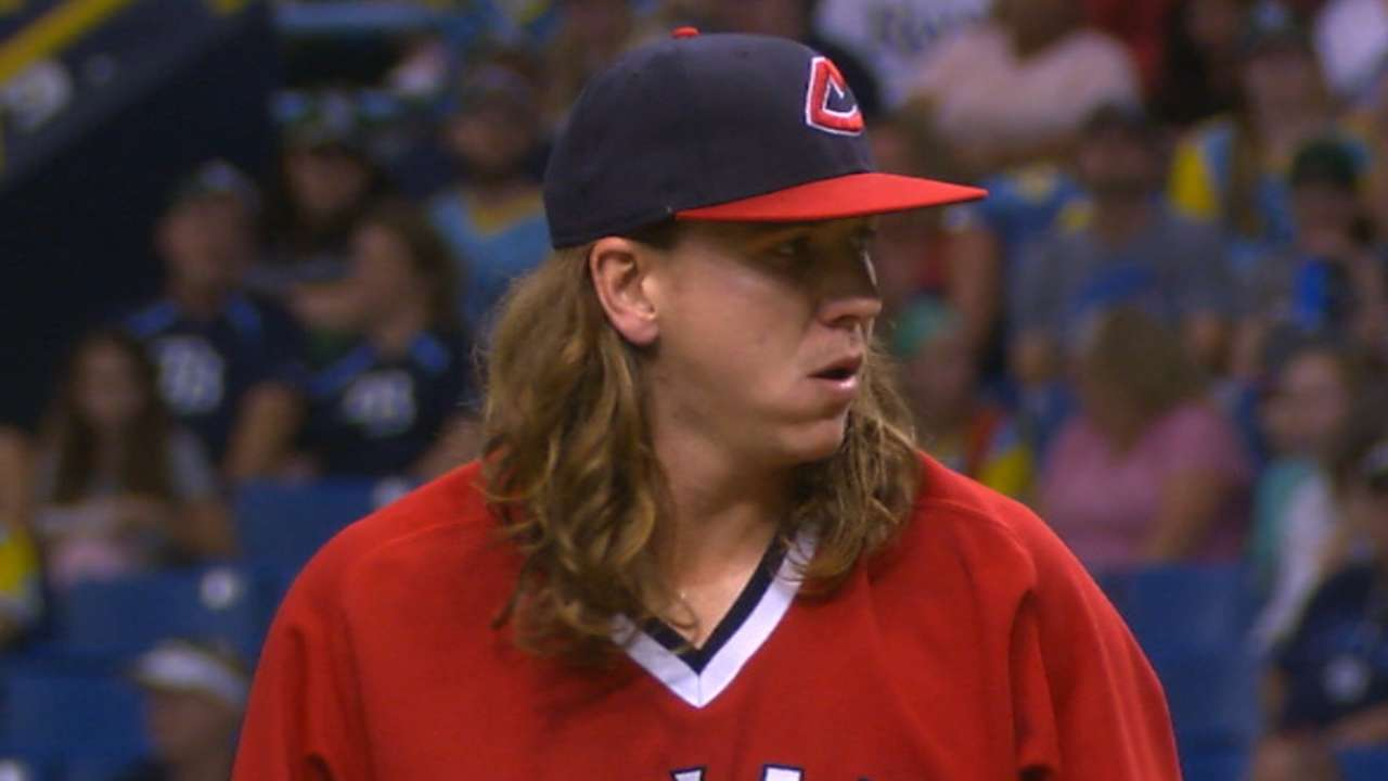Clevinger, Indians shut out slumping Rays