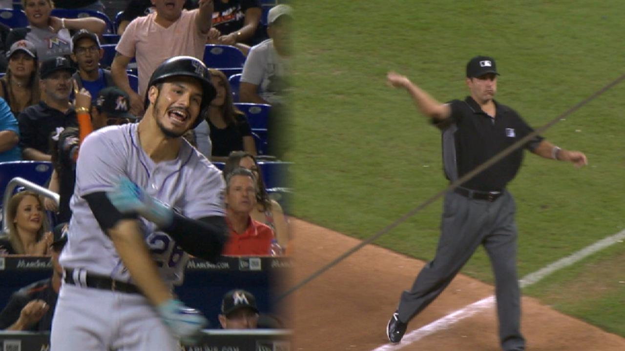Arenado uses ejection as learning moment