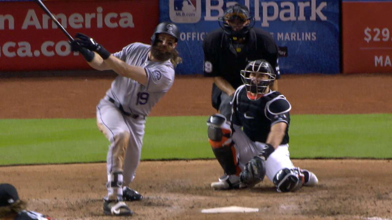 Blackmon collects 4 hits, but HR costs Hoffman