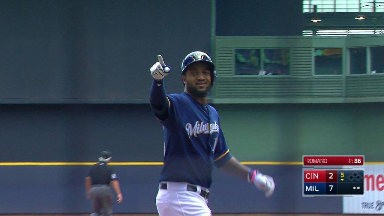 Santana's three-run home run