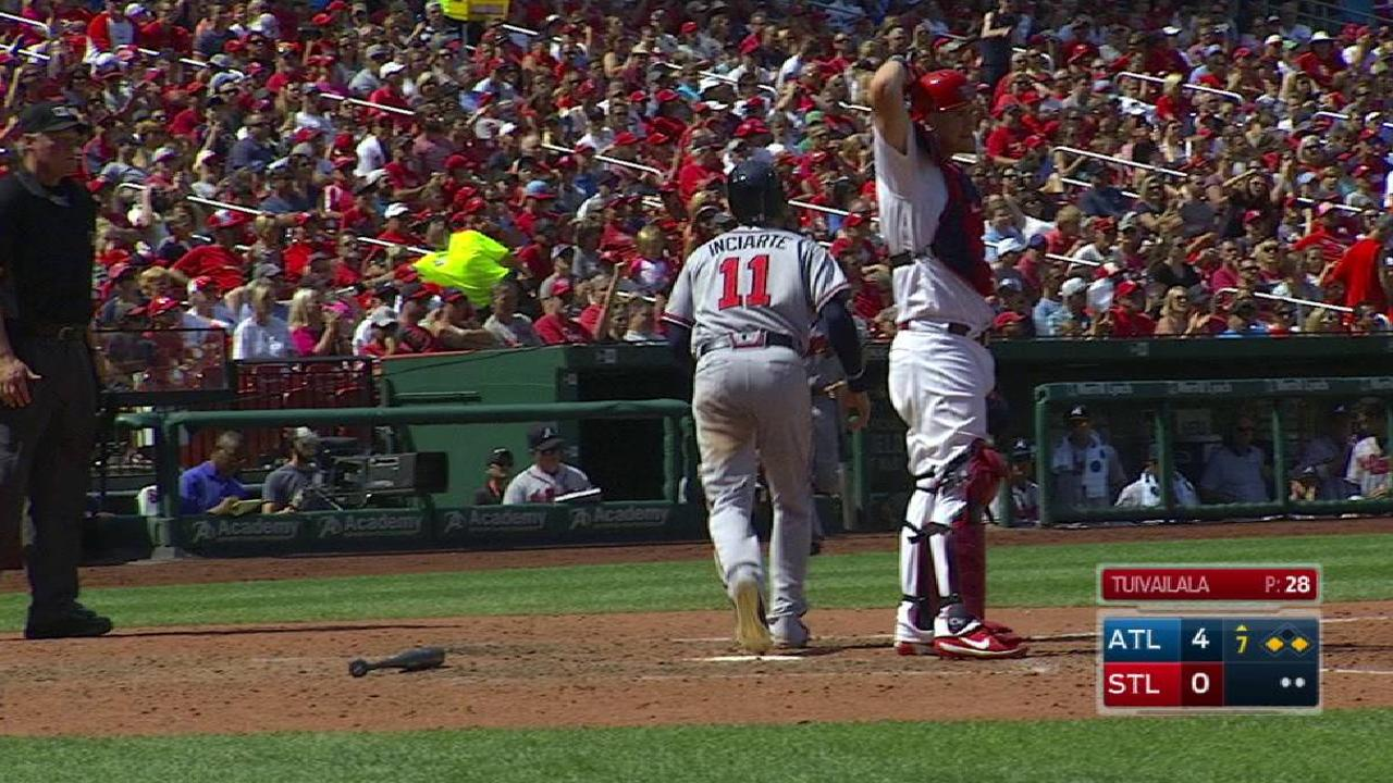 Inciarte scores on a forceout