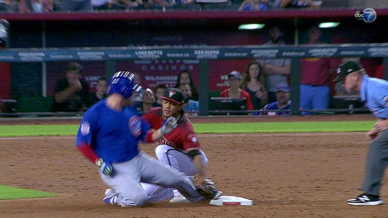 Caratini called safe at second