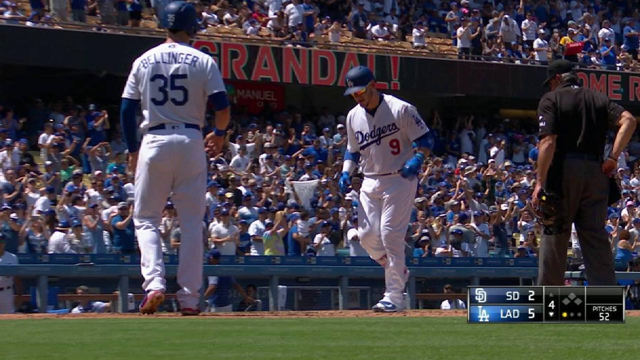 Grandal ayuda a ganar otra serie para Dodgers