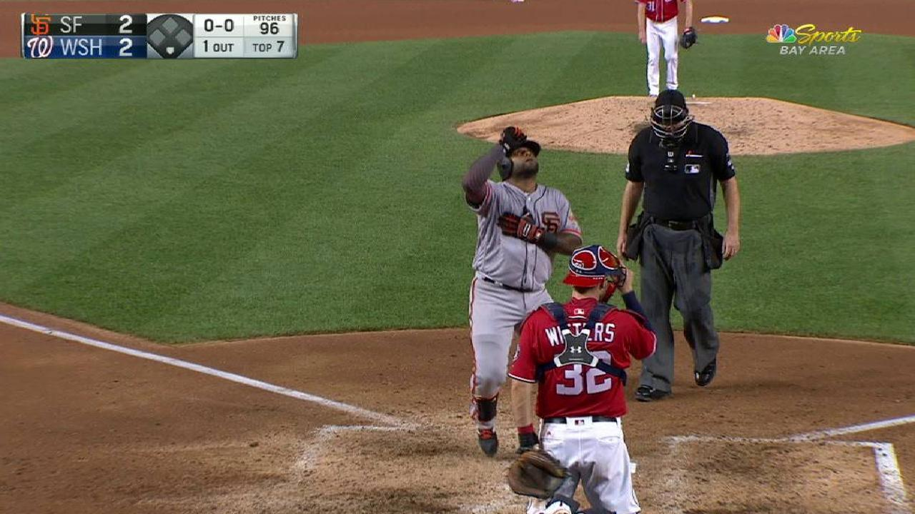 Sandoval's solo home run