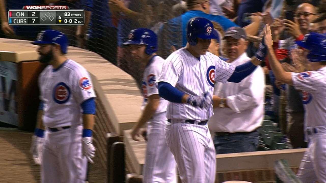 Cubs' five-run 4th