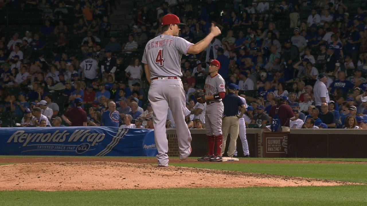 Gennett's one inning on the bump