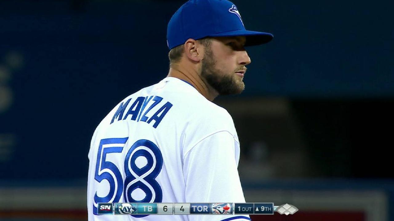 Mayza's first MLB strikeout