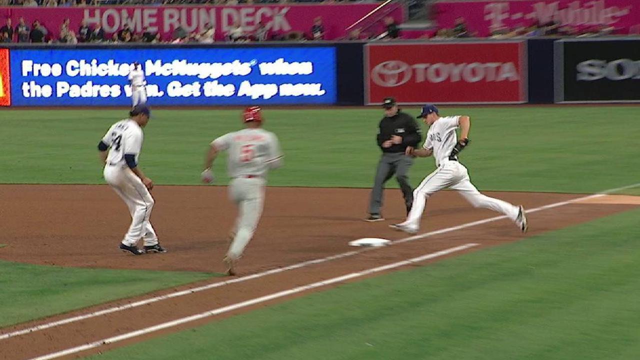 Myers' hustling defensive play