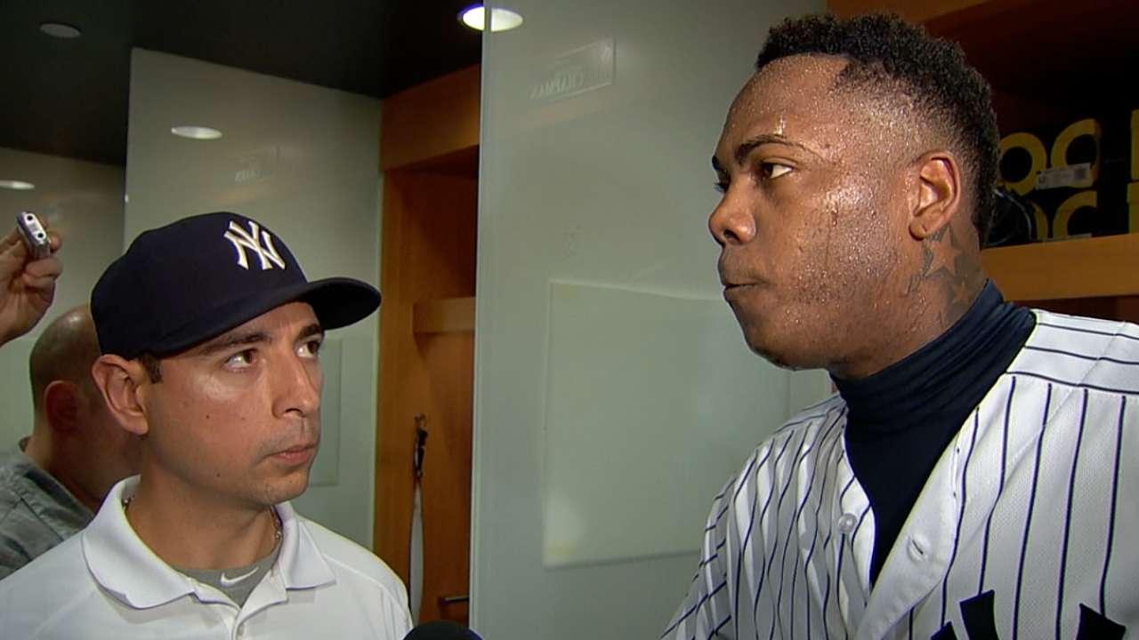 Chapman on outing vs. Mets
