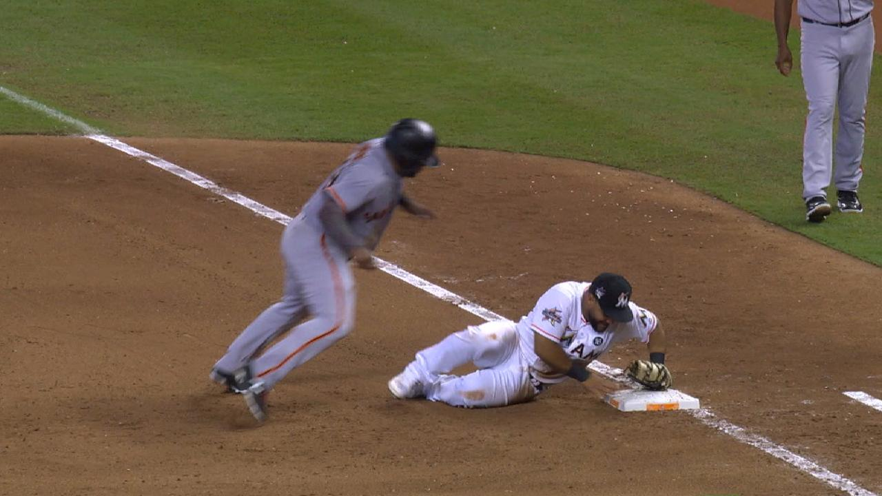 Telis' unassisted double play
