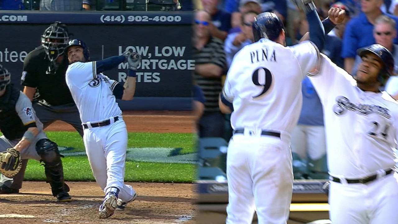 Brewers belt 5 homers to rally past Bucs