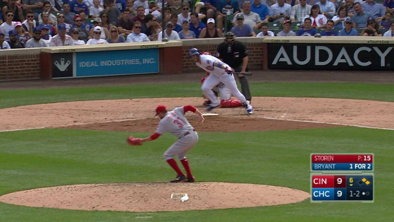 Storen converts a double play