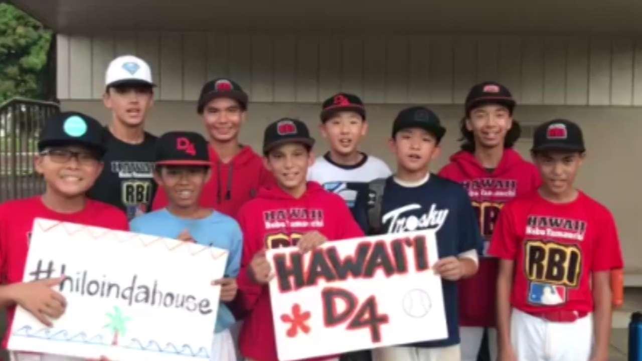 Little Leaguers wish Wong luck