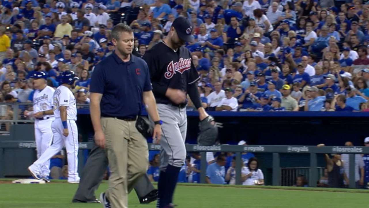 Kluber exits with ankle injury