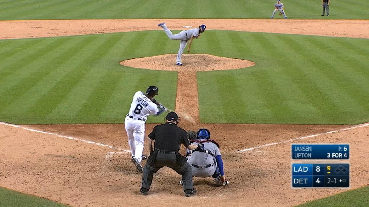 Upton's four-hit, two-homer game
