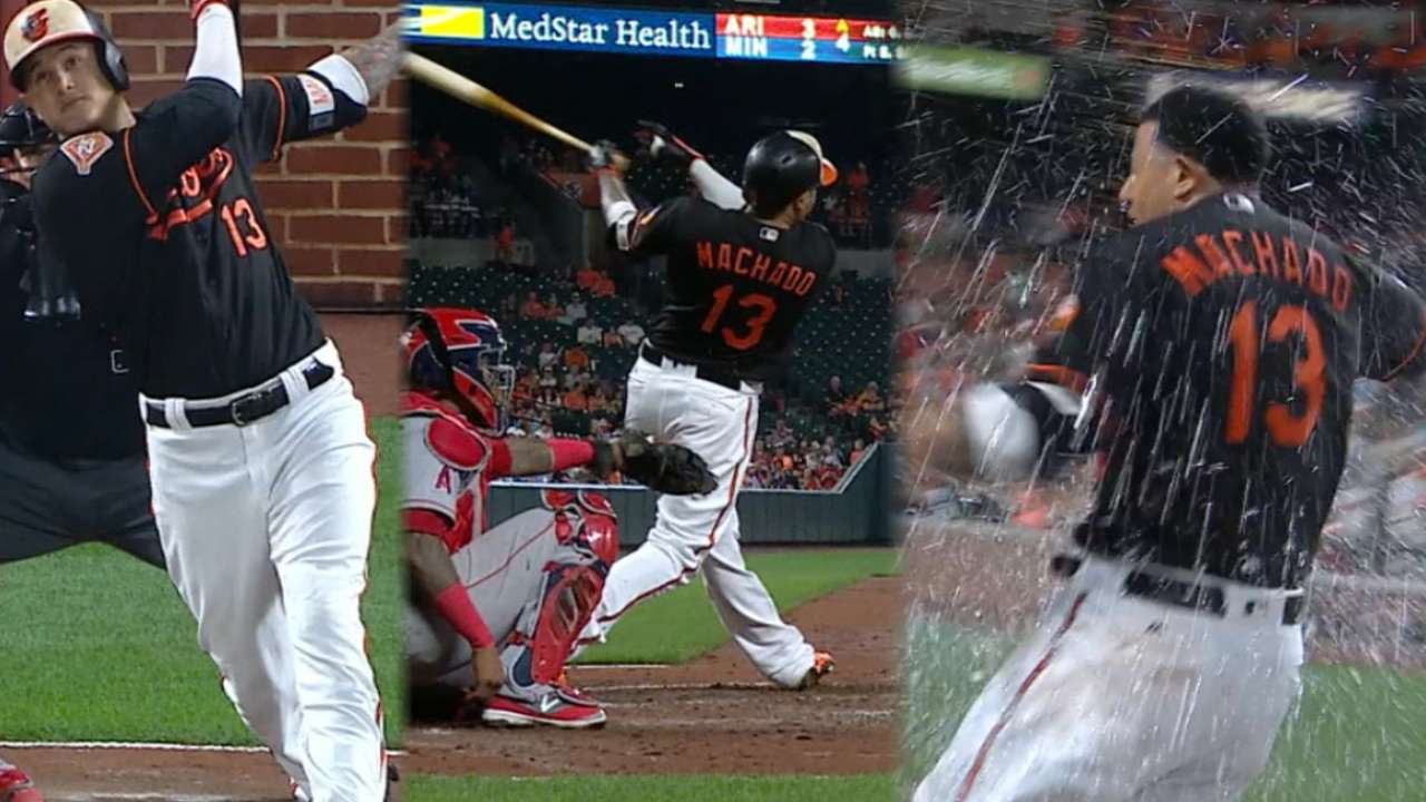 Must C: Machado's trio of homers