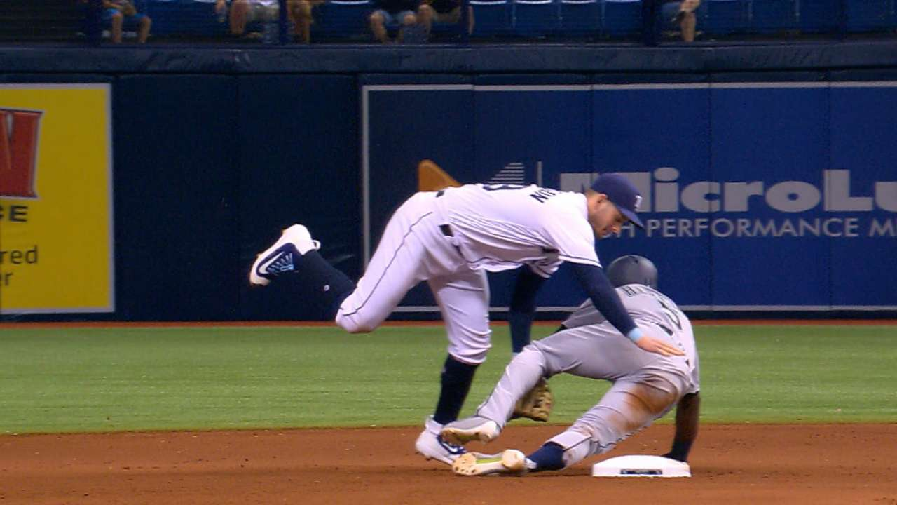 Rays turn a peculiar double play