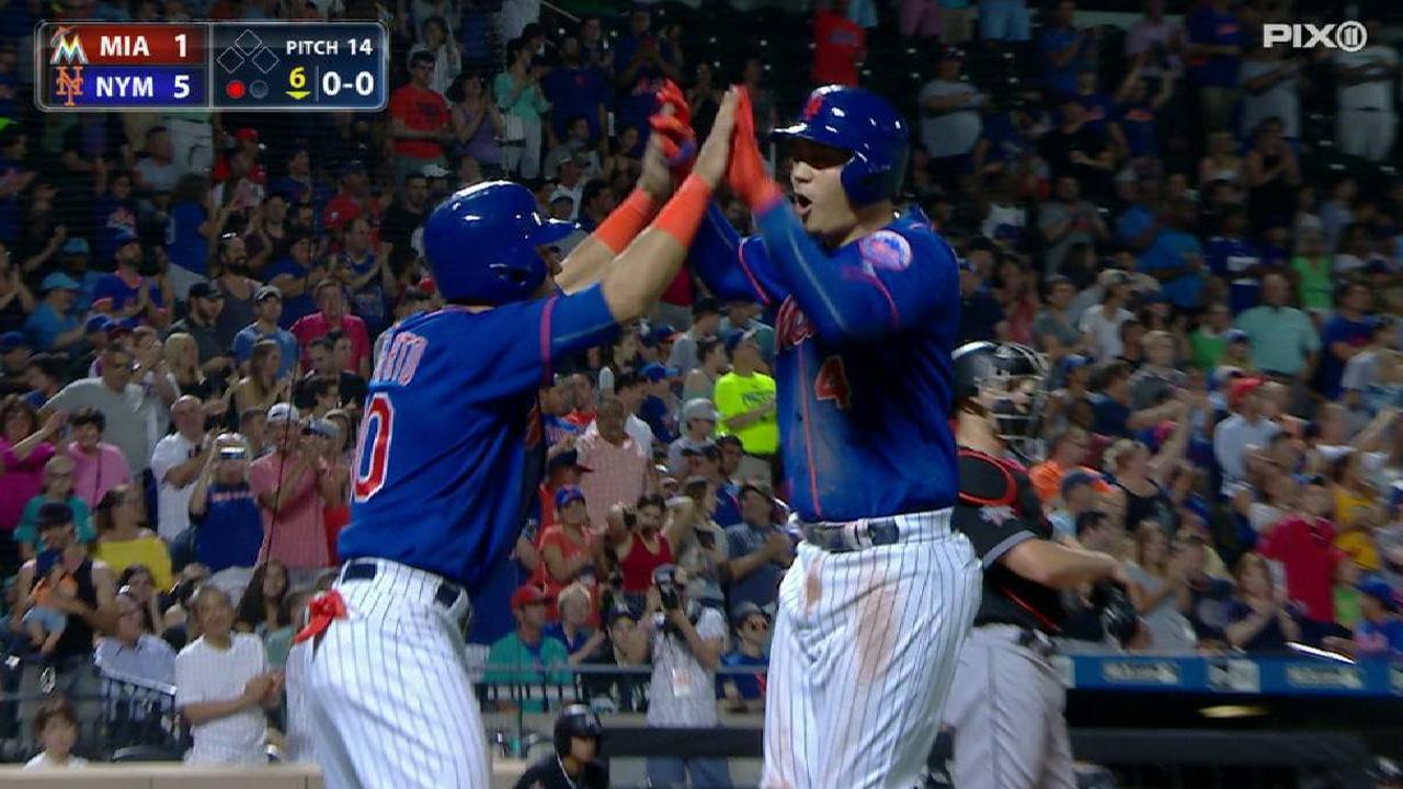 Montero brilló en la victoria de los Mets sobre los Marlins