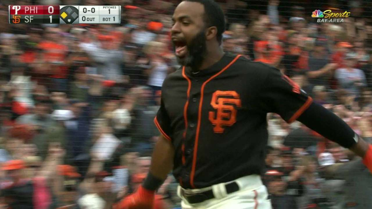 Span motors to inside-the-park homer