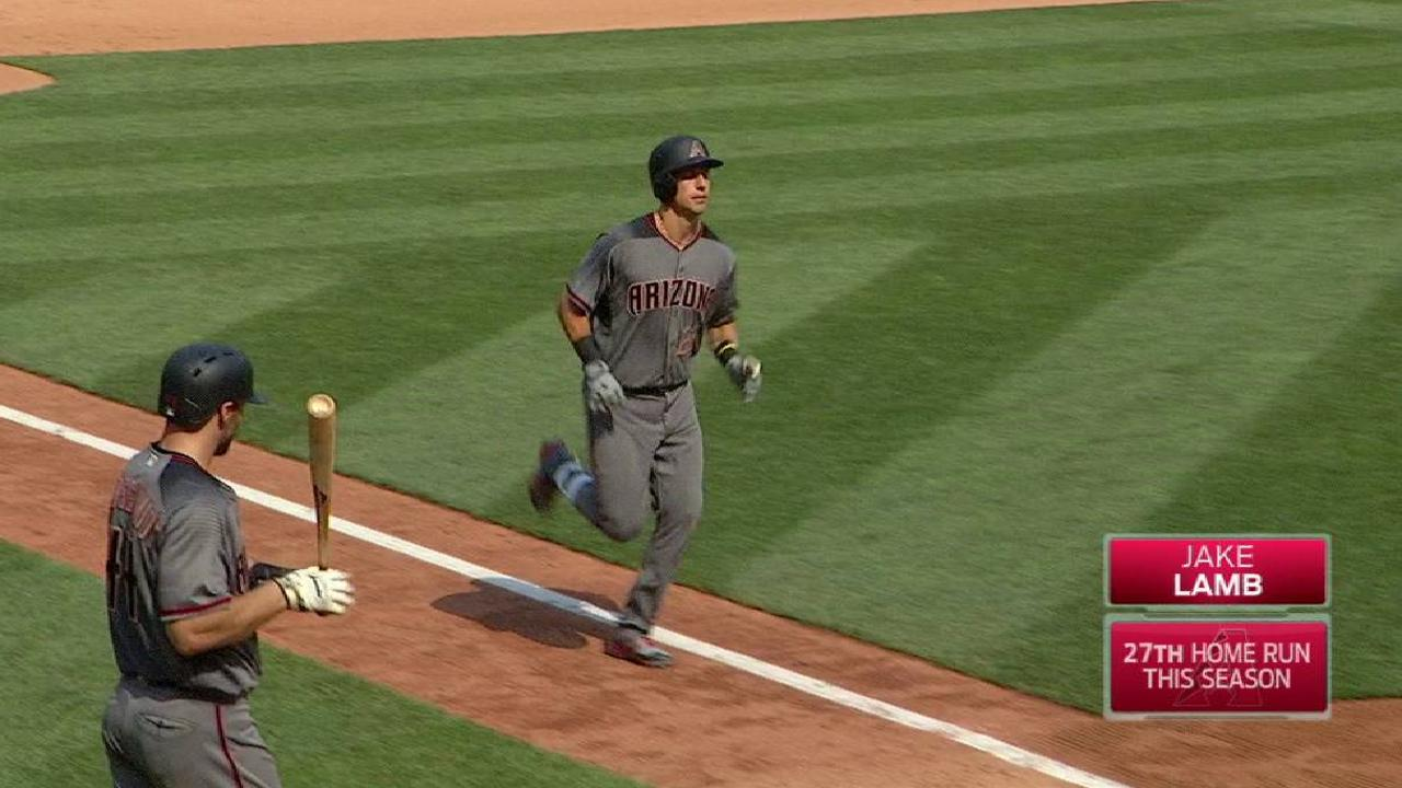 Lamb's solo home run